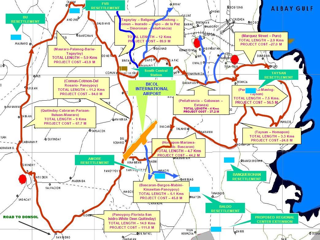 RDC Endorses Albays GUICADALE Economic Platform Project Runner - Legazpi city map